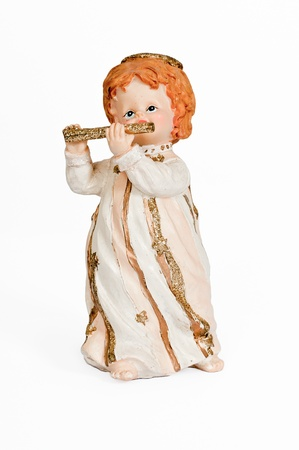 Flute Playing Angel Figurine photo