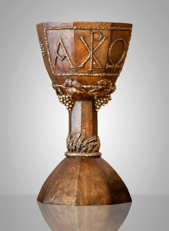 Brown and Richly Decorated Chalice Stock Photo