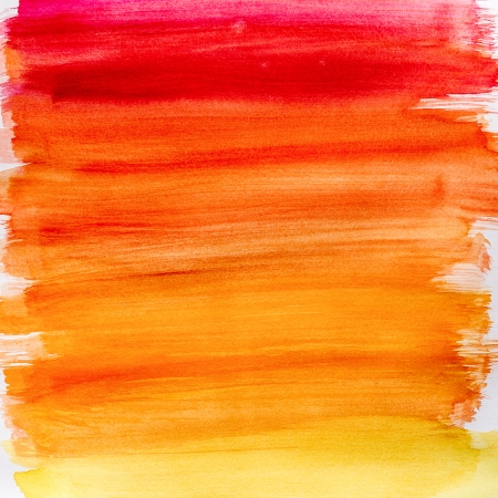 Gradient watercolor texture which resembles to fire or sunset  Gradation from orange to yellow  Very useful for backgrounds  Standard-Bild