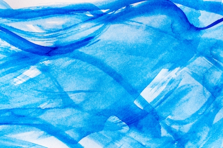Blue watercolor stains and strokes useful for backgrounds  photo