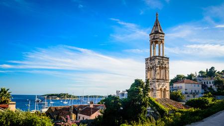 dalmatia: Old church bell tower on the island of Hvar in Dalmatia