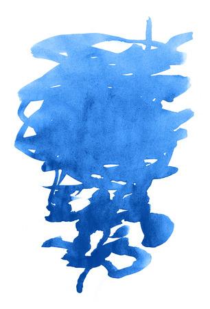 daub: Unusual blue watercolor stain