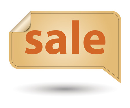 Retro designed label, sale discount sign photo