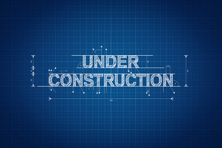 Under construction blueprint, technical drawing, scribble style photo