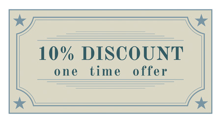 Vintage styled discount label, retro design sticker photo