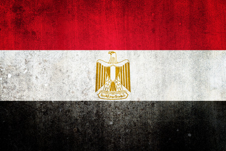 National flag of Egypt. Grungy effect. photo