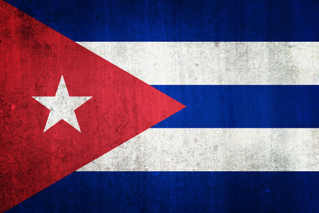 National flag of Cuba. Grungy effect. Stock Photo