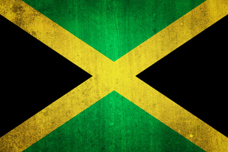 bob: National flag of Jamaica. Grungy effect.
