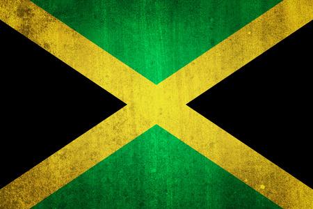 bob: National flag of Jamaica. Grungy effect.