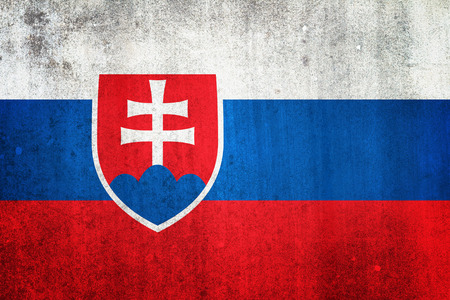 National flag of Slovakia. Grungy effect. photo