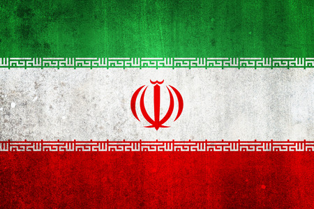 National flag of Iran. Grungy effect. photo