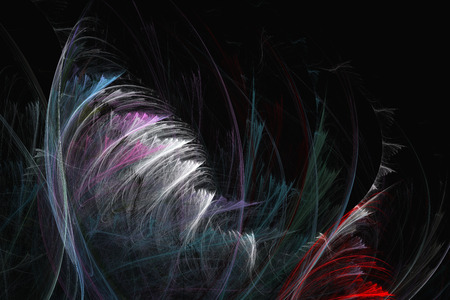 equations: Abstract fractal texture that resembles feathers. Visualization of complex equations.