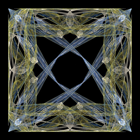 threads: Abstract symmetrical fractal texture. Complex threads structure.
