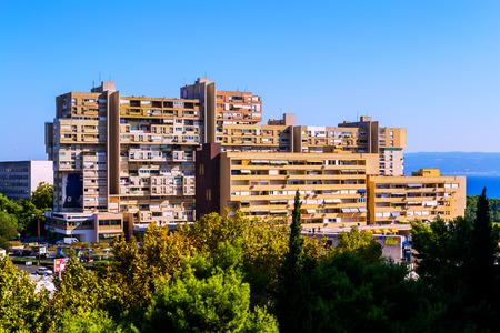 realism: Block of buildings in Split