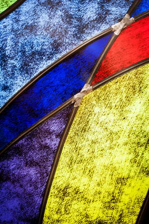 Detail of stained glass Stock Photo