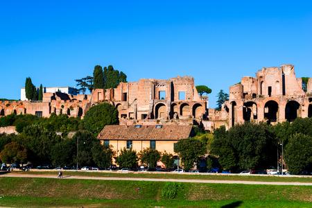 palatine: Palatine Hill in Rome Italy
