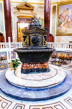 baptize: ROME, ITALY - OCTOBER 30: Lateran Baptistery near Archbasilica of St. John Lateran in Rome, Italy on October 30, 2014 Editorial