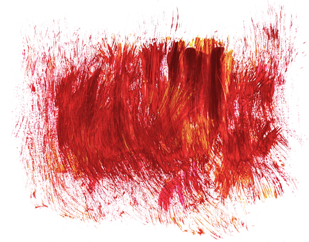canvas texture: Acrylic hand drawn red abstract splash stains