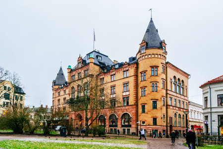 noteworthy: LUND, SWEDEN - DECEMBER 30, 2014: Grand Hotel in Lund is one of the citys oldest and most noteworthy hotels and restaurants in Sweden.