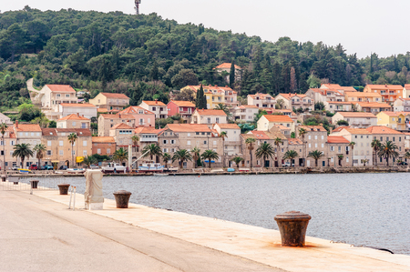 KORCULA, CROATIA - APRIL 2, 2016: Parts of the old town of Korcula on the island of Korcula, Croatia