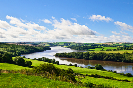 irish countryside: landscape of irish countryside with river Stock Photo