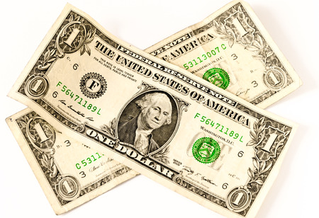 two us dollar: two usa dollars in a cross shape, business symbol for whealth and gain or threath Stock Photo