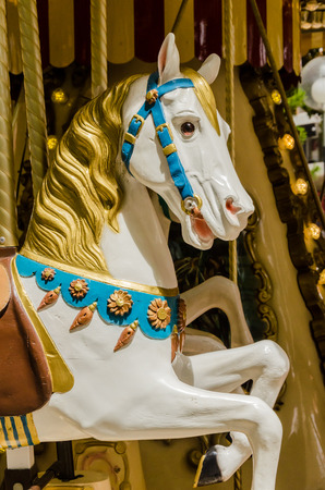 carousel horse: details of an carousel horse Stock Photo