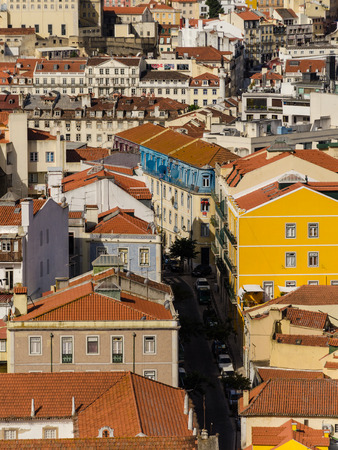 down town: aerial view of the lisbon down town