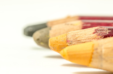coloured pencil: still life of coloured pencil with the color of fall, palette