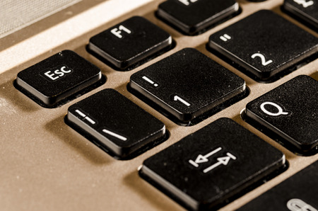 escape key: close up of a  personal computer keyboard