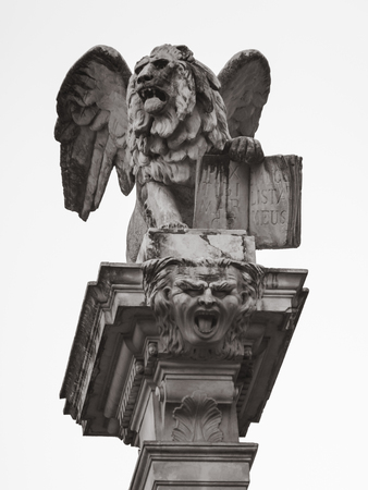 The Winged Lion Located At Strks Square Symbol Of Venice