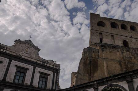 view of castel saint elm , in naples. italy