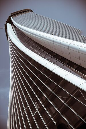 view from the basement of the Hadid tower in Milan, italy