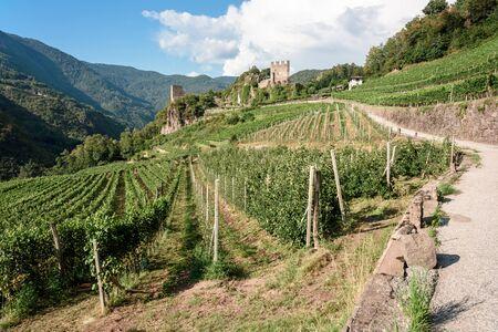the castel of duren in val di cembra, a secret of dolomites. italy