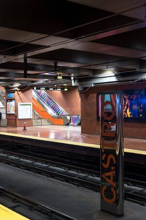 view of the subway station of castro in san francisco