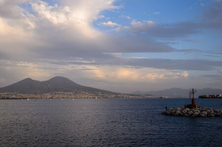 view of the bay of Naples from the harbor