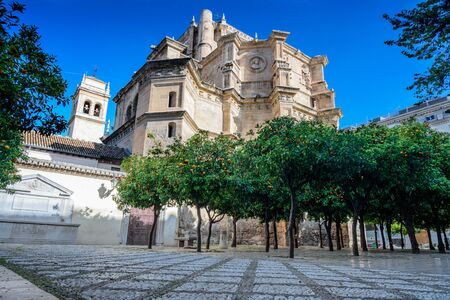 view of the Apse (rear) of the chuch of saint jeronimous in granada during a sunny day Imagens - 131922076