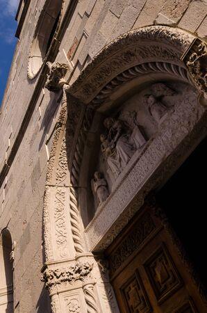 view of the door of Chiesa Fratta in san daniele