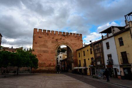view of the gate to albaicin, the arab quarter in granada. spain