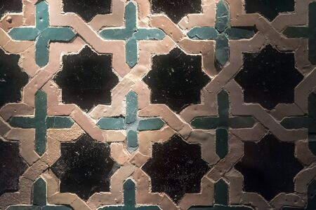 traditional ornamental tile (azulejos) in seville. andalucia. spain