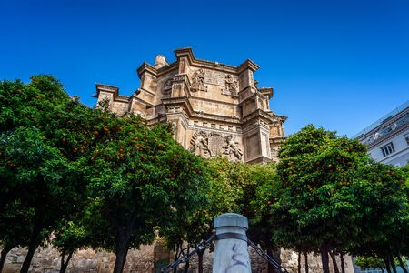 view of the Apse (rear) of the chuch of saint jeronimous in granada during a sunny day