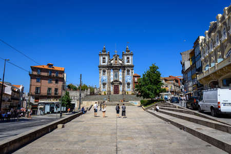 square in front of the church of saint Ildefonso. summer 2019.
