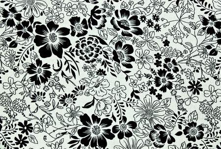 Floral vintage wallpaper background  photo