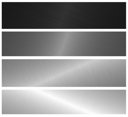 metal brushed banners photo