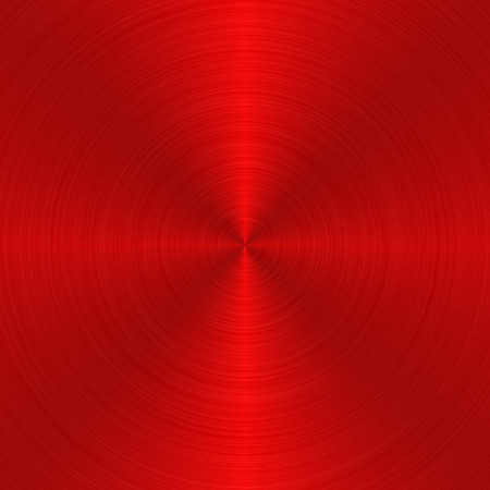 platinum metal: circular red metallic background