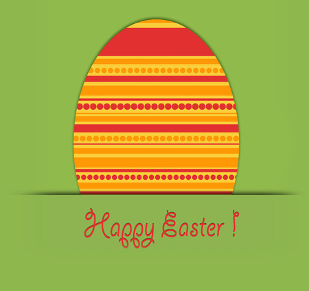 Colorful Easter card photo