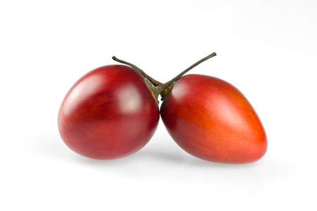tamarillo: tamarillo fruits on white