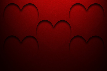 red label: hearts background Stock Photo