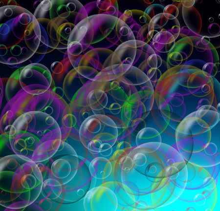 Soap bubbles seamless background