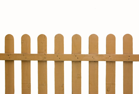 wood fence: Wooden fence isolated on white background